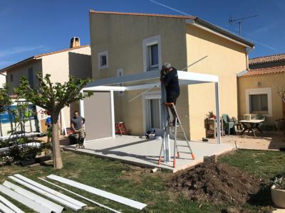 Carretlage Terrasse pour Pergola Bio Climatique