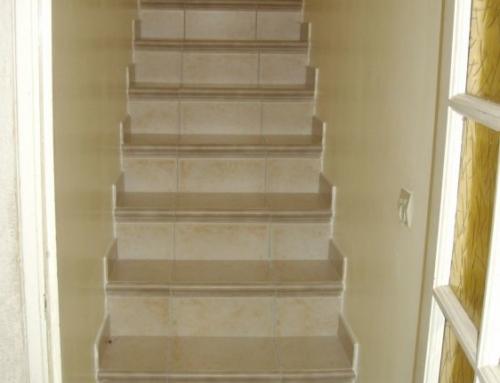 Escaliers carrelés