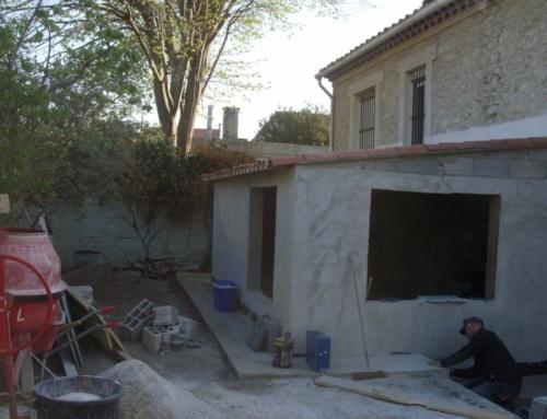 Extension pour une salle de bain