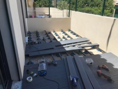 Terrasse en lames composite à Istres