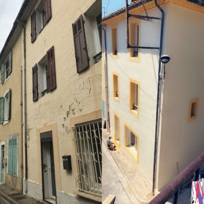 Ravalement de façade à St Chamas