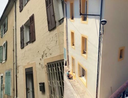 Ravalement de façade maison de ville