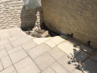 Terrasse en dalle de pierre à Istres