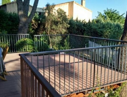 Création d'une terrasse surélevée